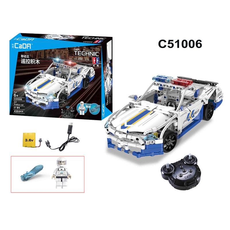 DoubleE / CADA C51006D GT police car remote control building blocks 1