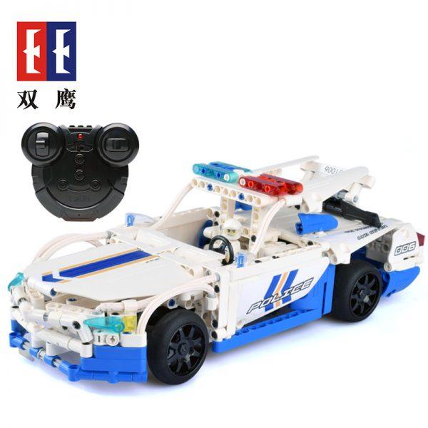 DoubleE / CADA C51006D GT police car remote control building blocks 2