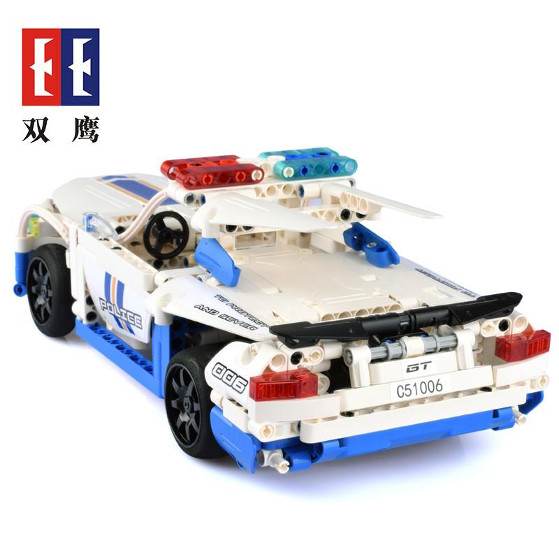 DoubleE / CADA C51006D GT police car remote control building blocks 3