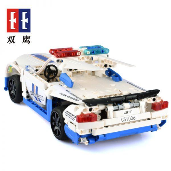 DoubleE / CADA C51006 GT police car remote control building blocks 3