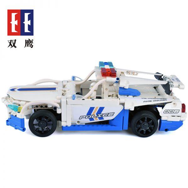 DoubleE / CADA C51006D GT police car remote control building blocks 4