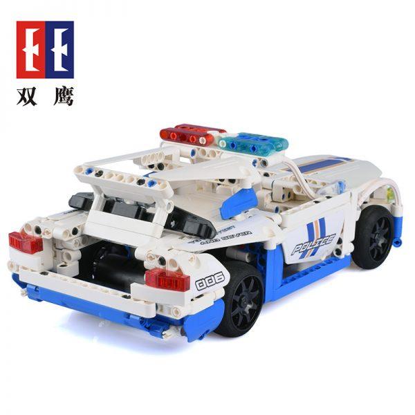 DoubleE / CADA C51006 GT police car remote control building blocks 5
