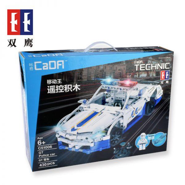 DoubleE / CADA C51006 GT police car remote control building blocks 6