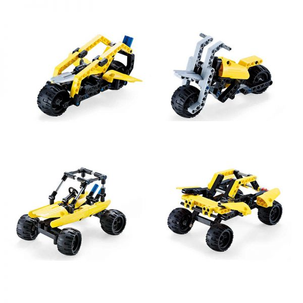 DoubleE / CADA C53009W Popular car deformed building blocks 8in1 2