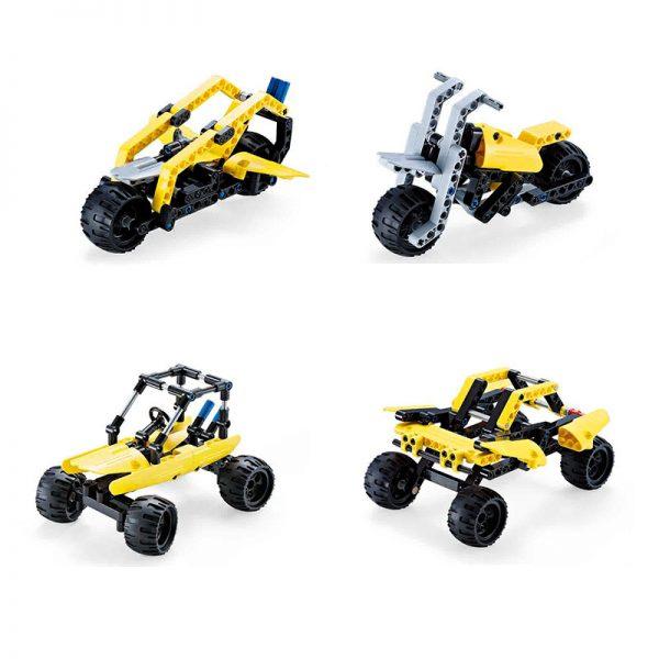 DoubleE / CADA C53009 Popular car deformed building blocks 8in1 2