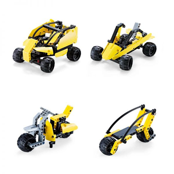 DoubleE / CADA C53009W Popular car deformed building blocks 8in1 3