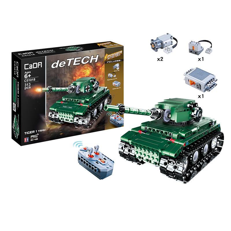 DoubleE / CADA C51018 Tiger Heavy Tank Tiger 1 Tank 6