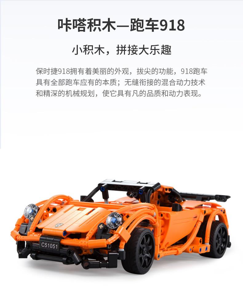 DoubleE / CADA C51051 Porsche Sports Car 918 6