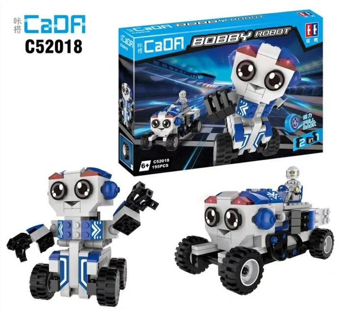 DoubleE / CADA C52018 BOBBY Robot Back Force Building Block 1