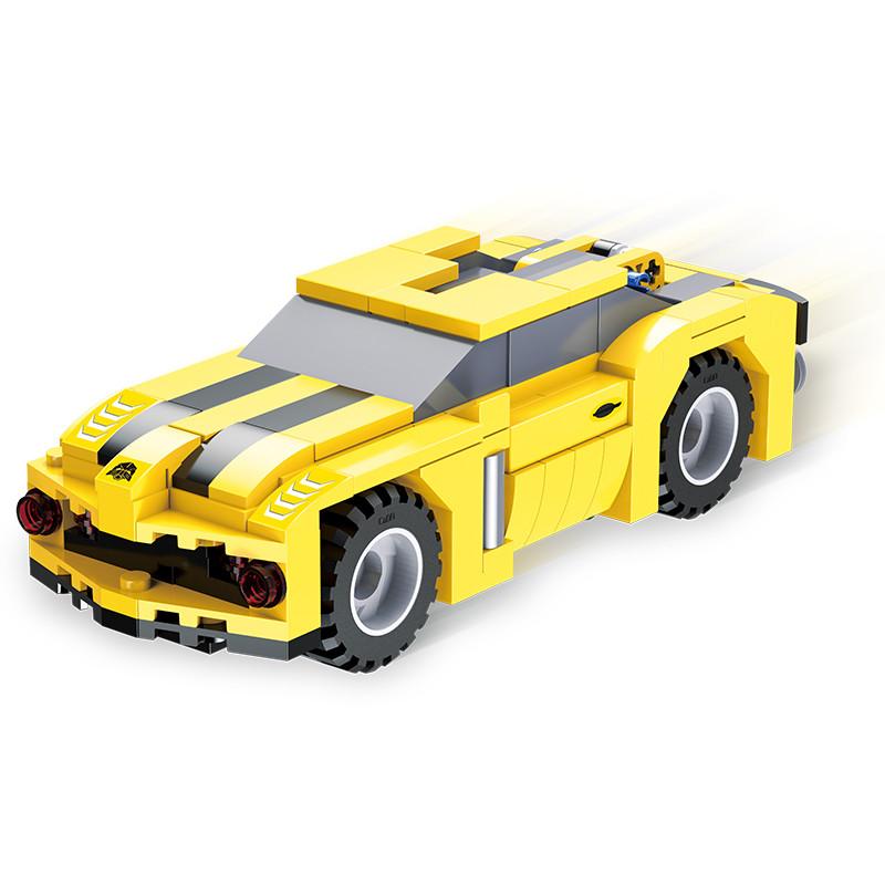 DoubleE / CADA C52020 Backforce Deformation Robot: Wasp Robot Back force building blocks 2
