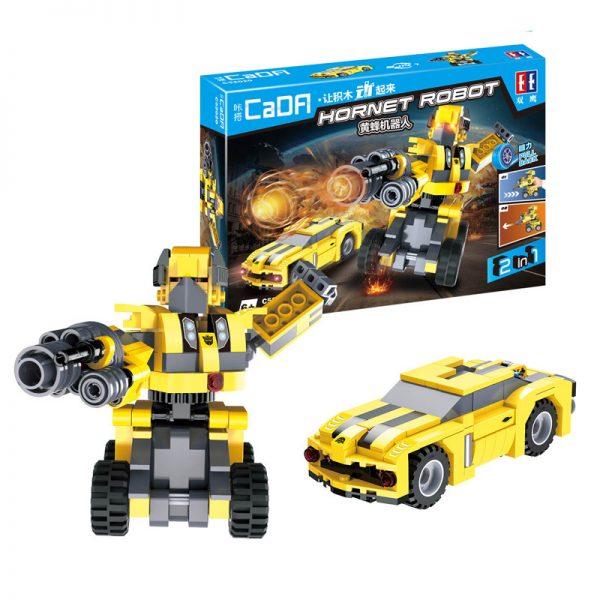 DoubleE / CADA C52020 Backforce Deformation Robot: Wasp Robot Back force building blocks 3