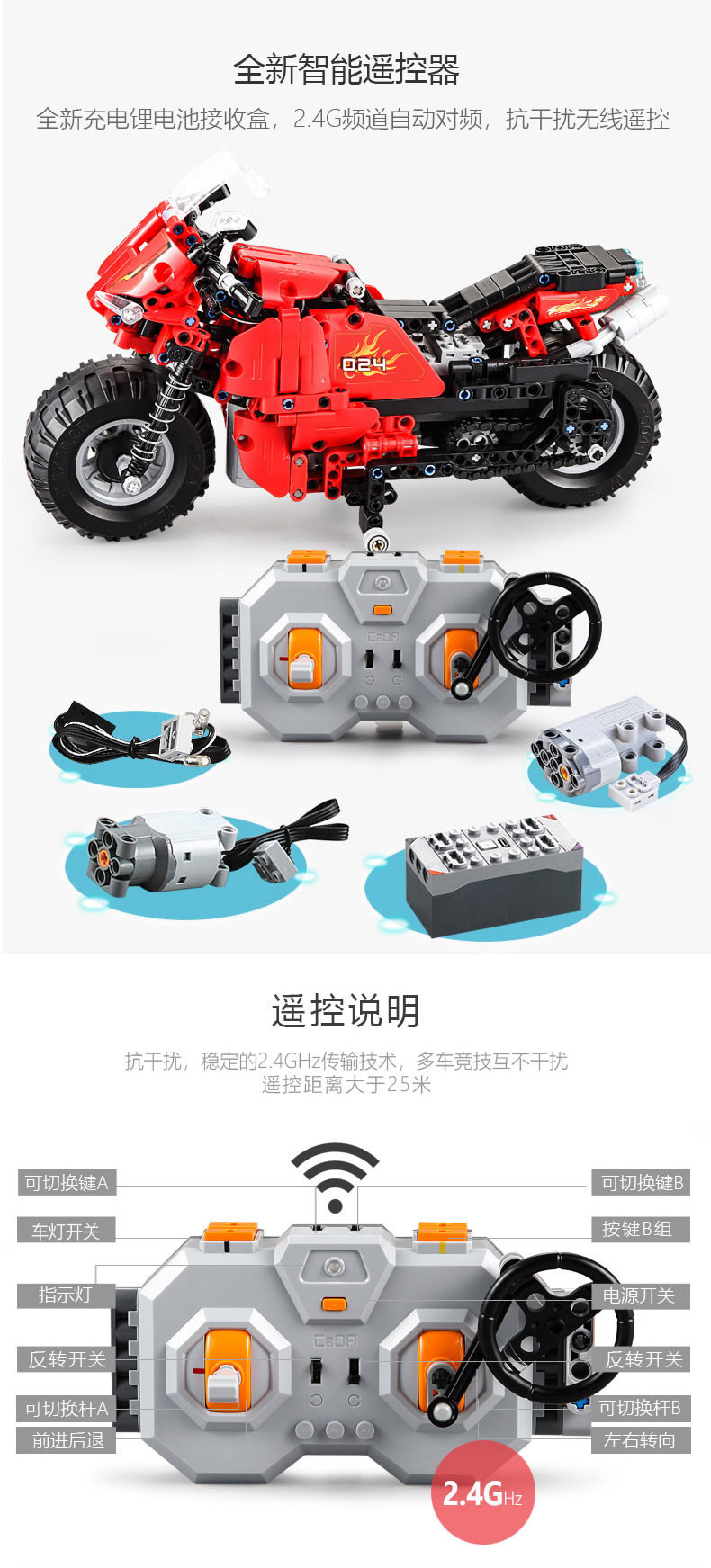 DoubleE / CADA C51024 Track Motorcycles 6