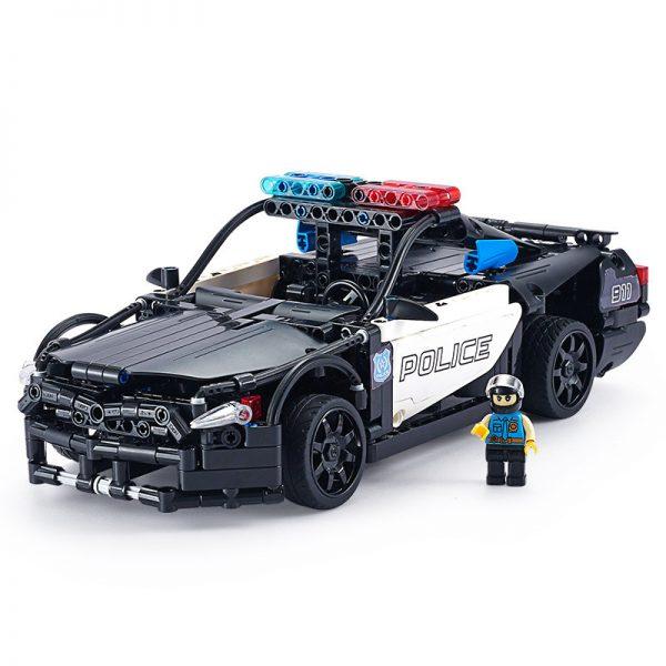 DoubleE / CADA C51006 GT police car remote control building blocks 7