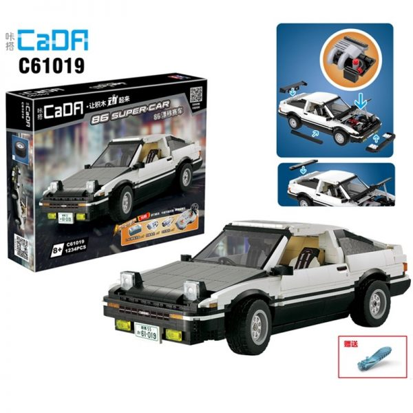 DoubleE / CADA C61019 Head text D Fujiwara tofu shop Toyota AE86 drift Racing Cars 1