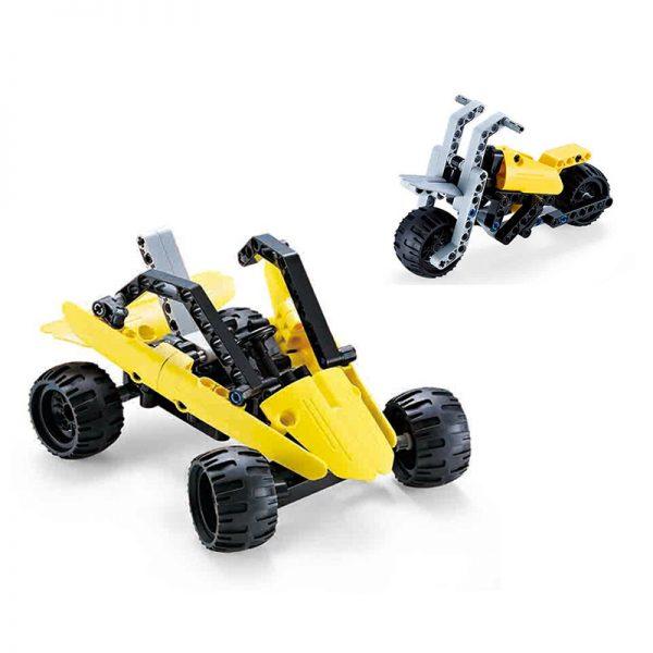 DoubleE / CADA C53009 Popular car deformed building blocks 8in1 0